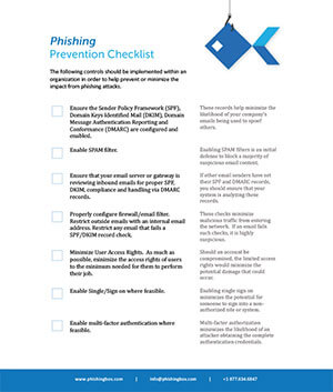 Phishing Prevention Checklist