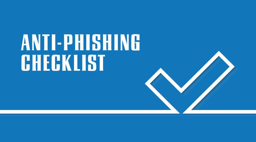 anti-phishing security control checklists
